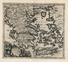 Europe, Mediterranean, Balearic Islands and Greece Map By Christoph Cellarius