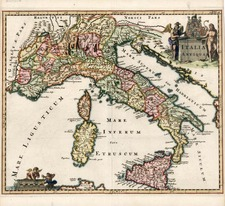 Europe, Italy, Mediterranean and Balearic Islands Map By Philipp Clüver