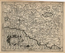 Europe and Italy Map By Jodocus Hondius - Michael Mercator