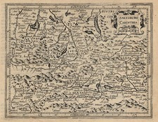 Europe and Austria Map By Jodocus Hondius - Michael Mercator