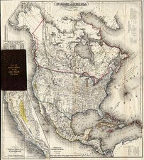 North America and California Map By J. Calvin Smith