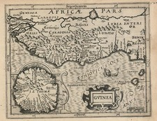 Africa and West Africa Map By Jodocus Hondius - Gerhard Mercator