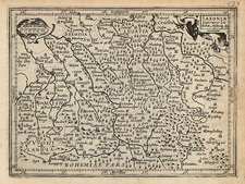 Europe and Germany Map By Jodocus Hondius - Michael Mercator