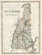 New England Map By Weimar Geographische Institut