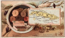 Caribbean Map By Arbuckle Brothers Coffee Co.