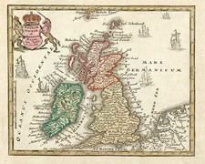 Europe and British Isles Map By Adam Friedrich Zurner / Johann Christoph Weigel