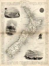 Australia & Oceania and New Zealand Map By John Tallis