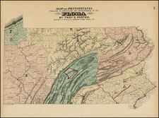 Mid-Atlantic Map By Gray  &  Henry Francis Walling