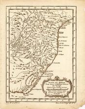 South America and Brazil Map By Jacques Nicolas Bellin
