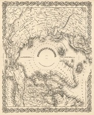 World, World and Polar Maps Map By Joseph Hutchins Colton