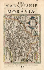 Czech Republic & Slovakia Map By Henricus Hondius - Gerhard Mercator