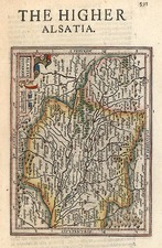 Europe, Switzerland, France and Germany Map By Henricus Hondius - Gerhard Mercator