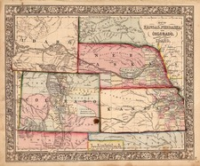 Plains, Southwest and Rocky Mountains Map By Samuel Augustus Mitchell Jr.