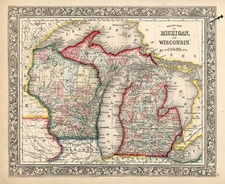 Midwest Map By Samuel Augustus Mitchell Jr.