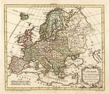 Europe and Europe Map By Gilles Robert de Vaugondy