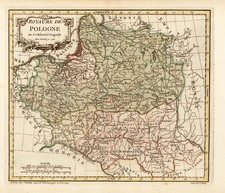 Europe and Poland Map By Gilles Robert de Vaugondy