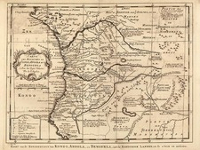 Africa and West Africa Map By Jacques Nicolas Bellin / Jn. Schley