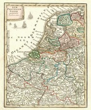Netherlands Map By Adam Friedrich Zurner / Johann Christoph Weigel