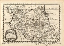 Mexico Map By Jacques Nicolas Bellin