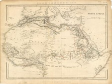 Africa, North Africa and West Africa Map By Chapman & Hall