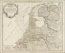 Netherlands Map By Gilles Robert de Vaugondy