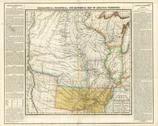 Texas, Midwest, Plains and Rocky Mountains Map By Henry Charles Carey  &  Isaac Lea