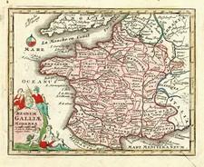 Europe and France Map By Adam Friedrich Zurner / Johann Christoph Weigel