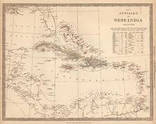 Caribbean Map By SDUK