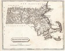 New England Map By Aaron Arrowsmith  &  Samuel Lewis