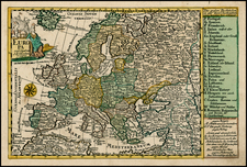 Europe and Europe Map By Johann George Schreiber