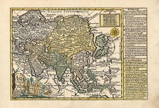 Asia and Asia Map By Johann George Schreiber
