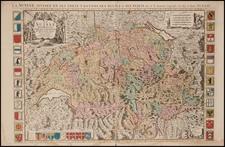 Switzerland Map By Alexis-Hubert Jaillot