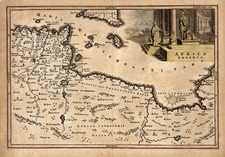 Europe, Mediterranean, Africa, North Africa and Balearic Islands Map By Christoph Cellarius