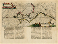 World, Polar Maps, Europe and Russia Map By Willem Janszoon Blaeu