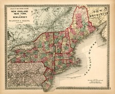 New England and Mid-Atlantic Map By H.H. Lloyd / Warner & Beers