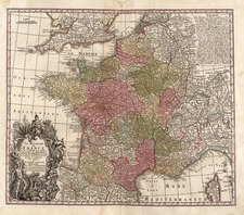 Europe and France Map By Matthaus Seutter