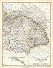 Europe, Austria, Poland and Balkans Map By W. & A.K. Johnston