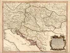 Austria, Hungary and Balkans Map By Nicolas Sanson