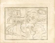 Europe, Italy, Asia, Holy Land and Greece Map By Thomas Gamaliel Bradford
