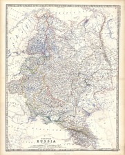 Europe and Russia Map By W. & A.K. Johnston