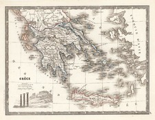 Europe, Greece and Balearic Islands Map By Conrad Malte-Brun
