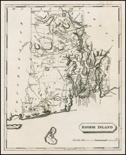 New England and Rhode Island Map By Aaron Arrowsmith  &  Samuel Lewis