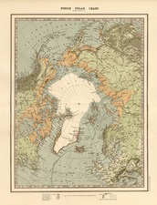 World, Northern Hemisphere, Polar Maps, Alaska and Canada Map By W. & A.K. Johnston