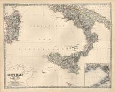 Europe, Italy and Balearic Islands Map By W. & A.K. Johnston