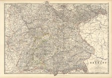 Europe and Germany Map By W. & A.K. Johnston