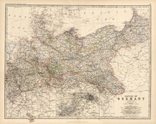 Europe, Germany and Baltic Countries Map By W. & A.K. Johnston