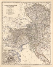Europe, Austria, Hungary, Czech Republic & Slovakia and Balkans Map By W. & A.K. Johnston