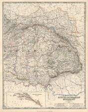 Europe, Austria, Poland, Hungary and Balkans Map By W. & A.K. Johnston