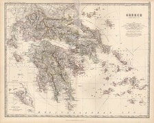 Europe, Balkans, Greece and Mediterranean Map By W. & A.K. Johnston
