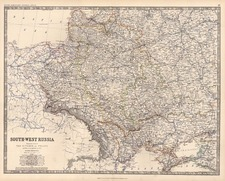 Europe, Poland and Russia Map By W. & A.K. Johnston